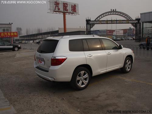 进口型降2万元 国产丰田汉兰达3月推出